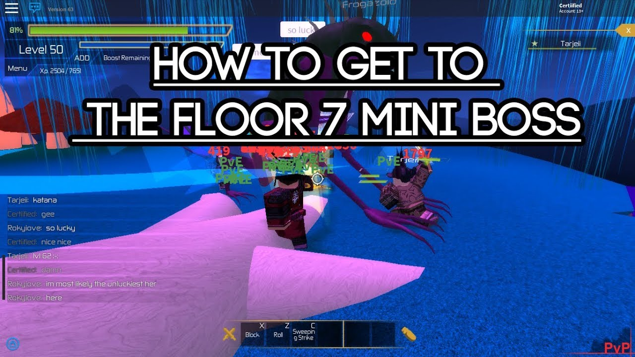 Roblox swordburst 2 how to get to the floor 7 mini boss for Floor 5 map swordburst 2