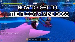 [Roblox Swordburst 2] How to get to the Floor 7 Mini Boss