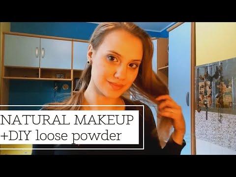 Natural makeup routine + DIY loose powder