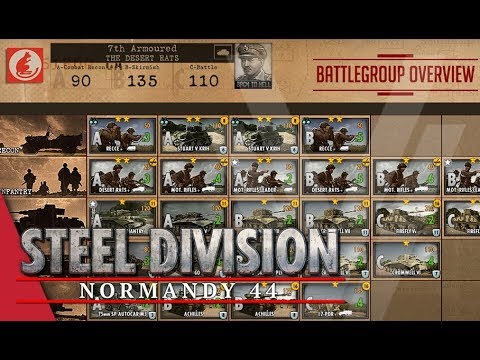 7th Armoured (The Desert Rats) - Steel Division: Normandy 44 Battlegroup Overview