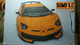 Cara Menggambar Mobil Lamborghini Aventador Youtube