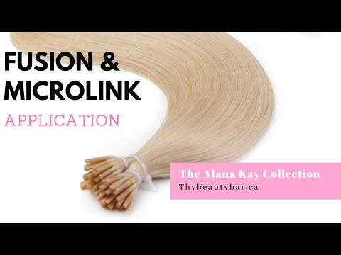 How To Install Fusion And I Tip Hair Extensions