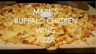 Vegetarian Eats Mark's Buffalo Chicken Wing Pizza