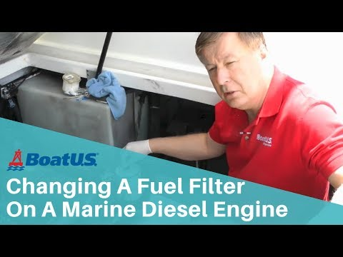 How To Change A Fuel Filter On A Marine Diesel  Engine