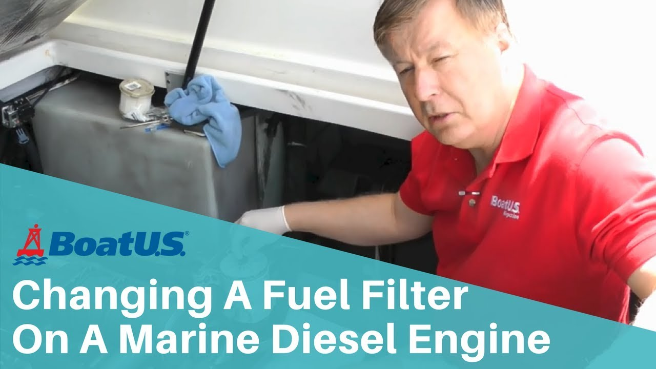 hight resolution of how to change a fuel filter on a marine diesel engine boatus