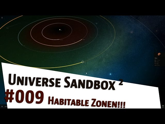 Lets Play Universe Sandbox 2 Habitable Zonen german | deutsch