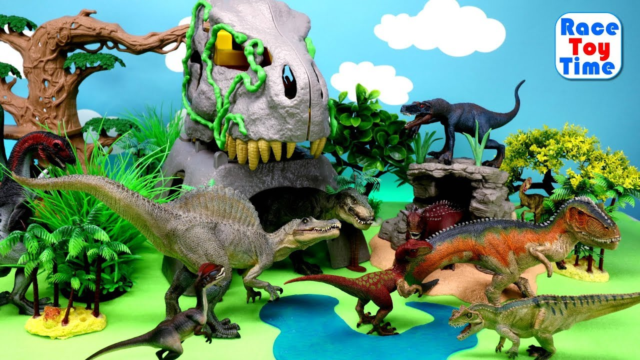 Fun Dinosaurs Toys For Kids Let S Learn Dino Names Youtube