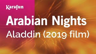 Karaoke Arabian Nights - Aladdin (2019 film) *