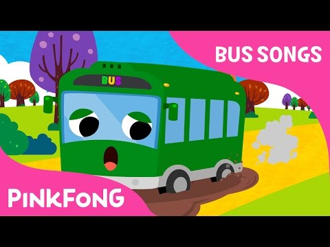 Thumbnail: The Wheels on the Green Town Bus | Bus Songs | Car Songs | Pinkfong Songs for Children