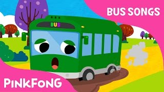 The Wheels On The Green Town Bus  Bus Songs  Car Songs  Pinkfong Songs For Children
