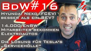 Lösung für Tesla's Servicehölle - FCEV besser als BEV? - 14.000 EnBW Mitarbeiter bekommen E-Autos