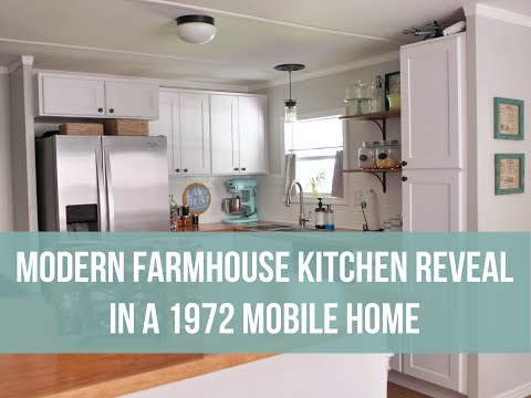 Modern Farmhouse Kitchen REVEAL! |  1972 Mobile Home