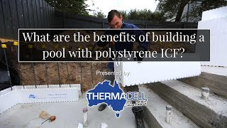 What are the main benefits of building a pool with polystyrene ICF?