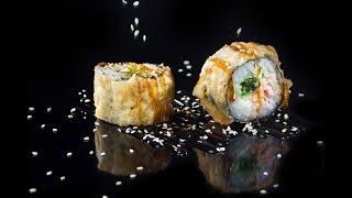 съемка суши роллы