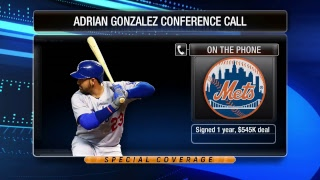 Adrian Gonzalez / New York Mets Conference Call