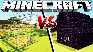 GLASS HOUSE VS OBSIDIAN HOUSE - Minecraft