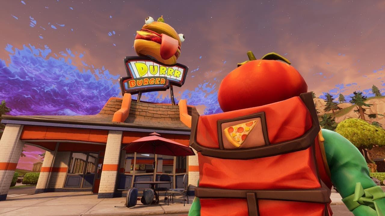Fortnite Tomato Vs Pizza I Am Going To Lose My Mind If The Next Season Is Durr Burger Vs Pizza Pit Fortnitebr