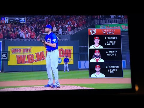 Cubs vs Nationals Game 5 NLDS | Bottom of the 9th and Postgame Interviews