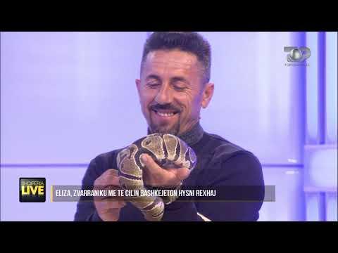 """Gjarpri """"live"""" në studio, tmerron prezantuesit - Shqipëria Live, 10 Shkurt 2020"""