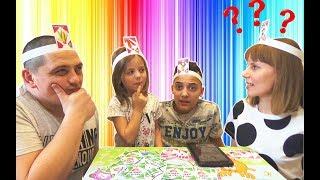 Челлендж КТО Я мы так ещё не смеялись ВЕСЁЛАЯ игра для детей Карточки с КУКЛАМИ на голове
