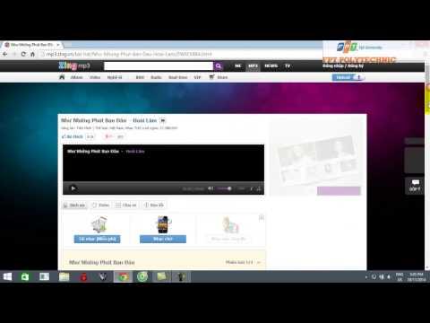 video hướng dẫn cách download nhạc trên mp3.zing.vn