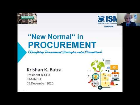 Webinar on New Normal in Procurement