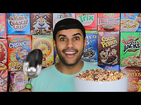 EATING EVERY CEREAL ON EARTH IN ONE BOWL!!! *IMPOSSIBLE CHALLENGE*