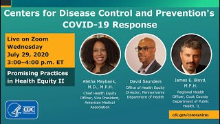 CDC COVID-19 Response Promising Practices in Health Equity