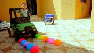 زياد والياس سوو طريق من البالونات ودعسوهم
