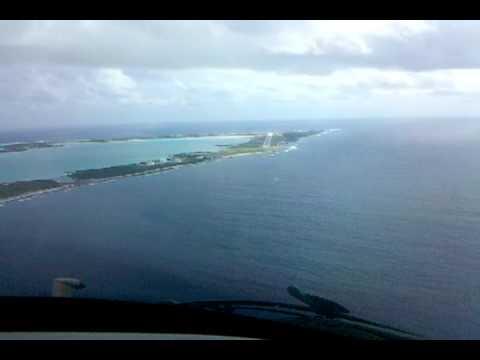 Landing in Wake Island in a Gulfstream-IV