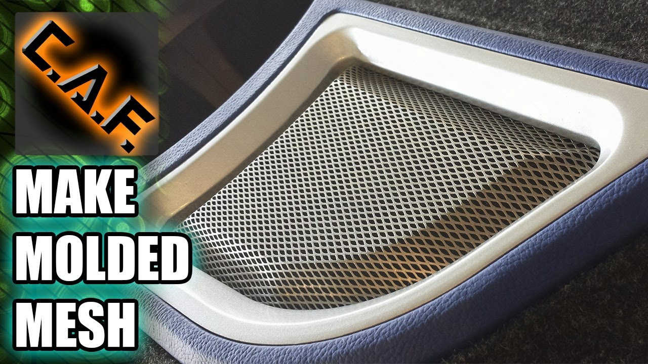 How To Mold Metal Mesh For Speaker Grills And Ports