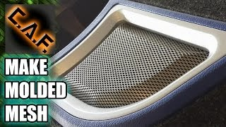 How To Mold Metal Mesh For Speaker Grills And Ports - Caraudiofabrication