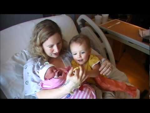 James meets his new baby sister.wmv