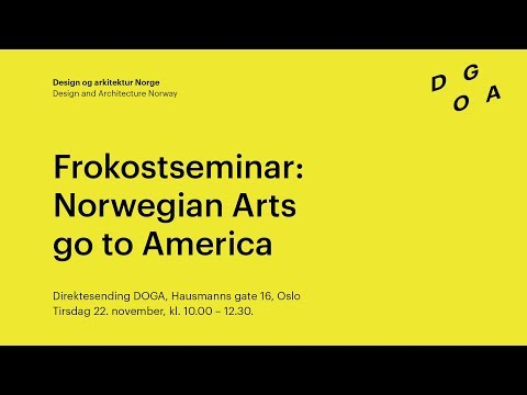 Norwegian Arts go to America