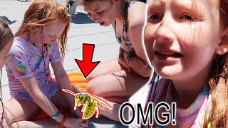 WATERPARK ACCIDENT - SHE HAD A WASP STUCK IN HER FOOT!