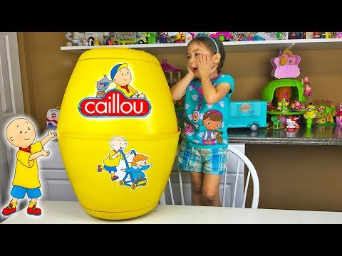 Huge caillou surprise egg fun surprise toys opening kids toy review