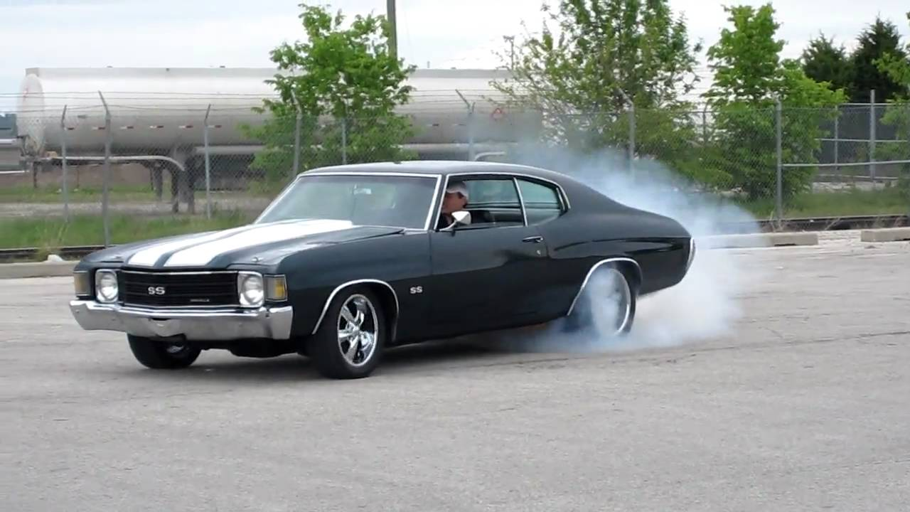 Classic Muscle Car Mobile Wallpaper 1972 Chevelle Burnout Youtube