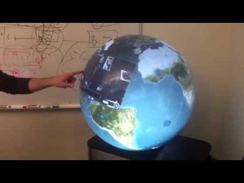 Amazing large digital globe:  A PufferSphere from Pufferfish Ltd
