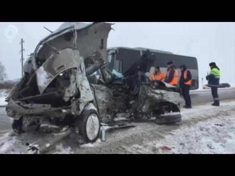 Страшная авария произошла на трассе Новосибирск - Черепаново. Лоб в лоб столкнулись две иномарки