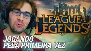 Minha Primeira Vez... em LEAGUE OF LEGENDS! - Gameplay de LoL com BRKsEDU Finalmente!
