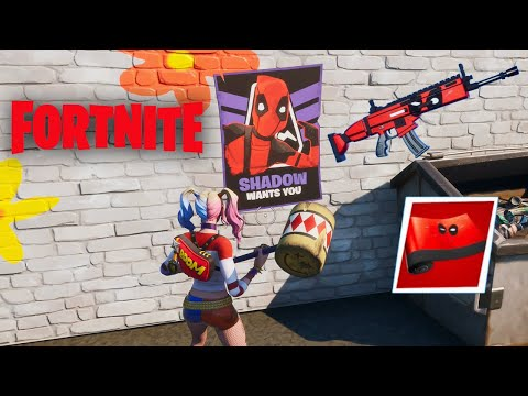 Fortnite Deadpool Week 6 Challenges - Unlock Deadpool Merc Weapons Wrap!