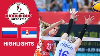 RUSSIA vs. SERBIA - Highlights | Women's Volleyball World Cup 2019