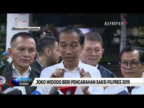 Joko Widodo Beri Pengarahan Bagi Saksi Pilpres 2019