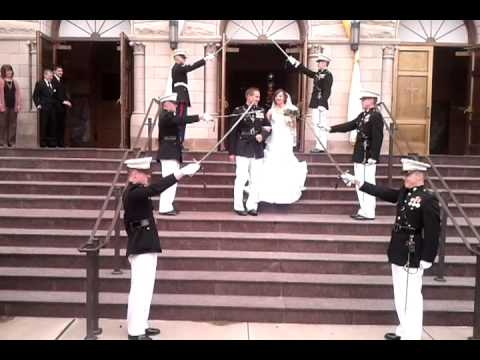Marine Wedding Sword Send-Off