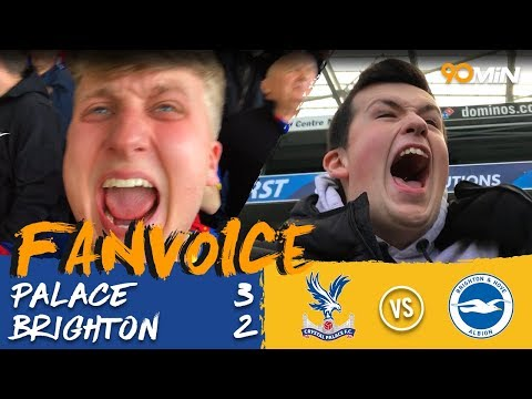Crystal Palace 3-2 Brighton | 5 goal thriller see's Zaha earn Palace 3-2 win vs Brighton! | Fanvoice