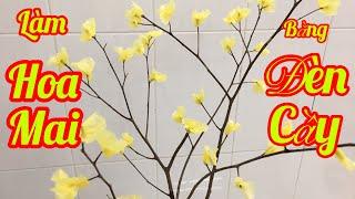 #mẹbỉmvàobếp #cáchlàmhoa. Cách làm hoa mai vàng bằng đèn cầy, hướng dẫn chi tiết cách làm hoa .