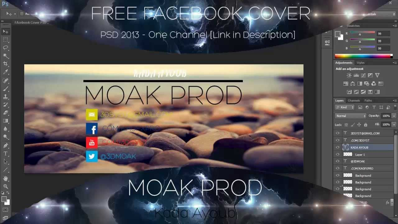 Facebook Cover PSD Download Link - YouTube