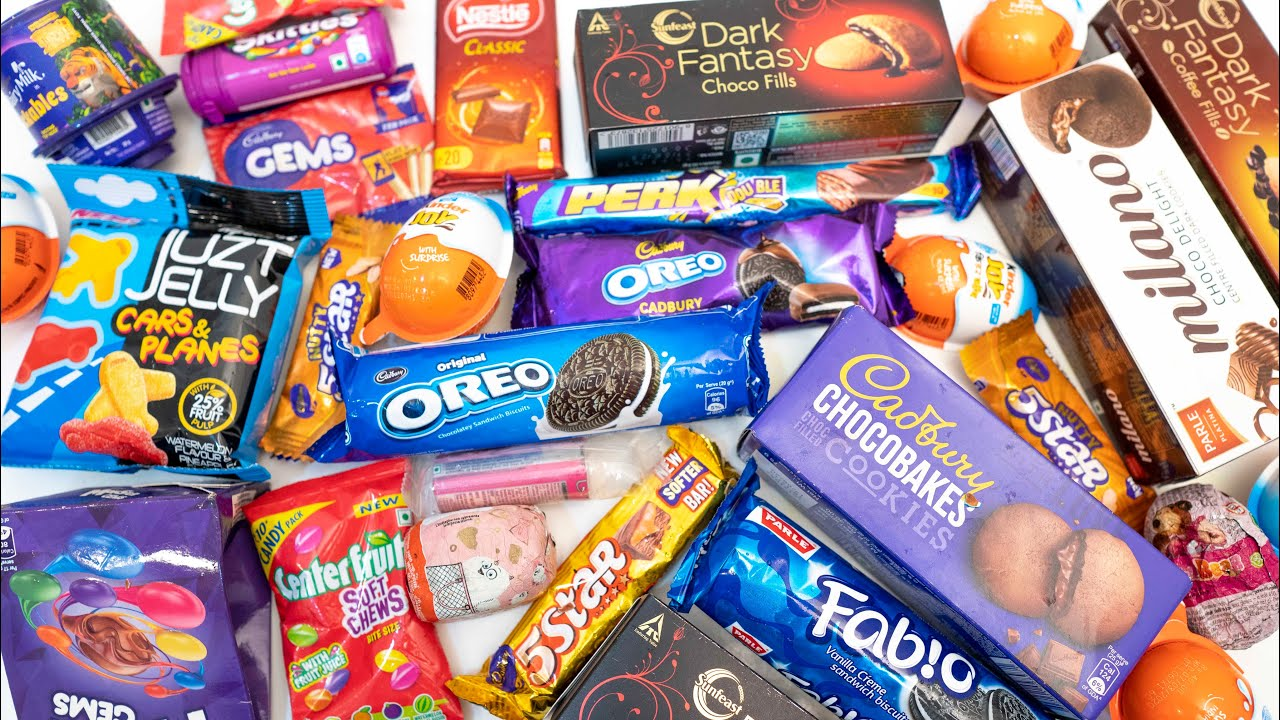 Some lot's of candies   most satisfying, mouth watering video
