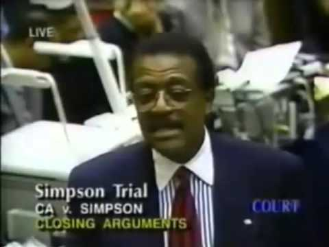 O J   Simpson Trial Johnnie Cochran Closing Argument   Part 12