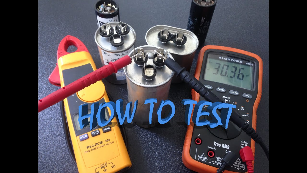 Check Ac Capacitor With Multimeter : How to test capacitor youtube